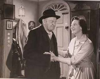 "Barry Fitzgerald and Maire Keane in ""The Big Birthday"" AKA ""Broth of a Boy"", 1959. Emmet Dalton..."