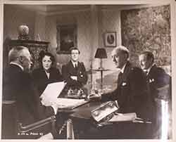 "Fay Compton, George Cole, Alastair Sim, and Guy Middleton in ""Laughter in Paradise"", 1951...."