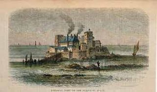 Imperial Fort on the Island of Pi Lee. 19th Century European Artist