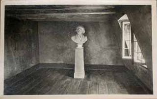 Illustration of Beethoven's bust in a room. 20th Century European Artist