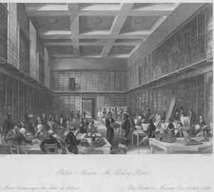 The British Museum -- Reading Room. Thomas Hosmer Shepherd, H. Melville, after, engrav