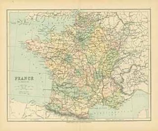 France in Provinces (Map). George Philip, Son