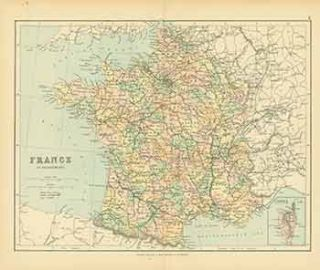 France in Departments (Map). George Philip, Son