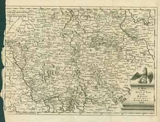 A Map of the Seat of War on the Rhine and parts adjacent in Germany, 1759. (Map). 18th Century...