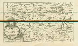 A Map of that Part of Westphalia in which the French Army was defeated Aug 1, 1759. (Map). 18th...