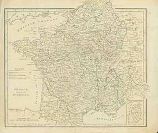 18th Century Map of France divided into Departments &c. 18th Century European Engraver