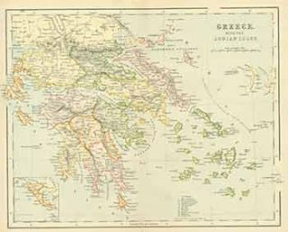 Greece with the Ionian Isles (Map). 19th Century European Engraver