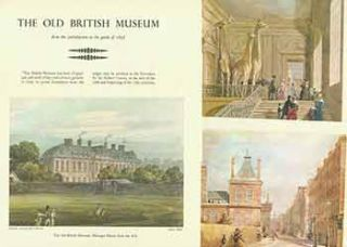 The Old British Museum. Folder with 12 color illustrations laid in. British Museum