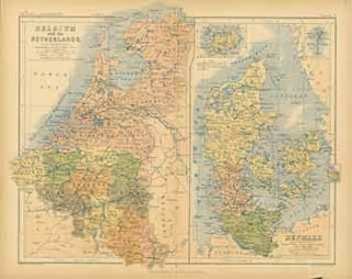 Denmark. (19th Century Map). A. K. Johnston, engraver