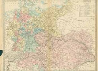 Germany General Map. (19th Century Map). 19th Century European Artist
