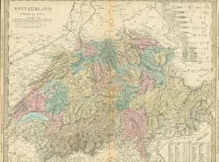 Switzerland. (19th Century Map). 19th Century European Artist