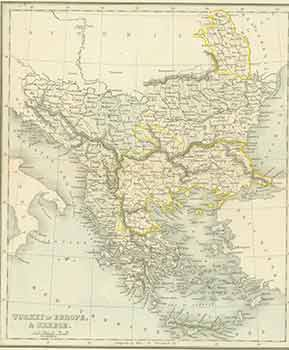 Turkey in Europe, & Greece. (19th Century Map). Alex Findlay
