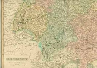 Germany. (19th Century Map). 19th Century English Artist