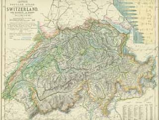 Switzerland (19th Century Map). Letts Son, Co Limited