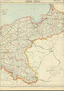 German Empire (19th Century Map). Letts Son, Co Limited