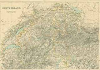 Switzerland. (19th Century Map). 19th Century British Artist