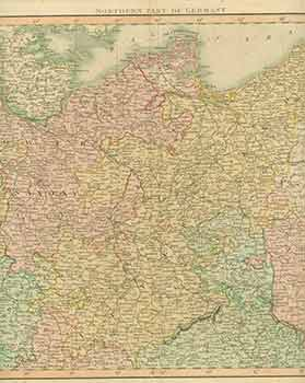 Northern Part of Germany (19th Century Map). 19th Century European Artist