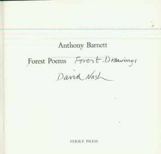 Forest Poems: Forest Drawings. (One of 200 copies.). Anthony Barnett, David Nash