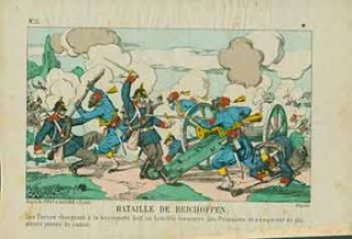 Bataille de Reichoffen. (Battle of Reichshoffen). 19th Century French Artist