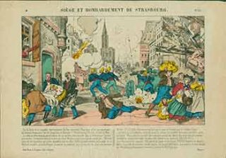 Siège et Bombardement de Strasbourg. (Siege and Bombardment of Strasbourg). 19th Century French...