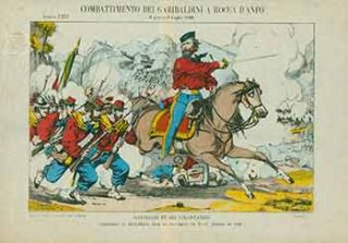 Combattimento dei Garibaldini a Rocca D'Anfo. (Battle of Garibaldini at Rocca D'Anfo). 19th...