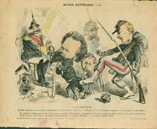 Musee Satyrique. L'Armistice. (Satirical Museum. The Armistice.). 19th Century French Artist