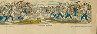 Charge de Hussards (Charge of Hussards). 19th Century French Artist