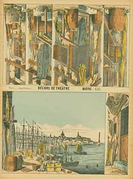 Décors de Théâtre. (Theater decorations). 19th Century French Artist