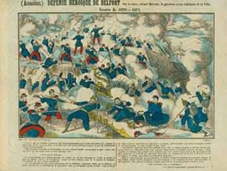 Actualites.) Defense Heroique de Belfort. (News. Heroic Defense of Belfort). 19th Century French...