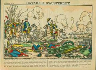 Bataille D'Austerlitz. (Battle of Austerlitz). 19th Century French Artist