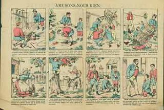 Amusons-Nous Bien. (Let's have fun.). 19th Century French Artist