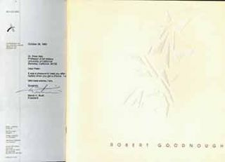 Robert Goodnough: Paintings. (Exhibition: February 14 to March 16, 1991) (Presentation copy with...