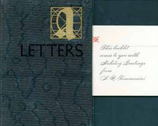 A Few Words About Letters and Some Examples. (Copy number 332 of 600 copies of this Christmas...