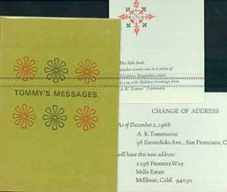 Tommy's Messages. (Copy number 363 of 900 copies of this Christmas keepsake printed in December...