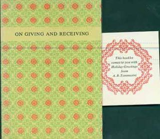 On Giving and Receiving Especially at Christmas: Observations. (Hand numbered 489 and 381 of 700...