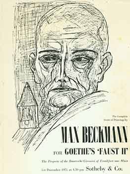 The Complete Series of Drawings by Max Beckmann for Goethe's 'Faust II.' The Property of the...