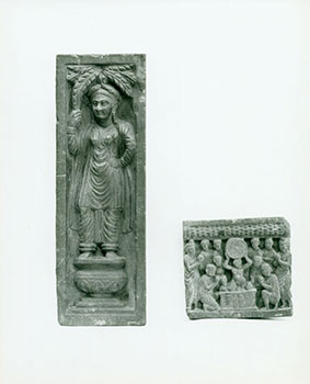 Photograph of Ancient Wall Sculpture of Standing Figures. Freer Gallery of Art, Chinese Artist,...
