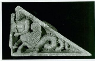 Photograph of Ancient Wall Sculpture, of Merman. Freer Gallery of Art, Chinese Artist, Washington DC