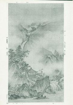 Photograph of Ancient Chinese Painting of Waterfall, Forest & Cliffs. Freer Gallery of Art,...