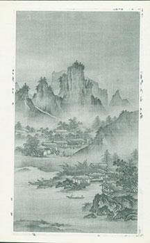 Photograph of Ancient Chinese Painting of Forested Mountains. Freer Gallery of Art, Chinese...