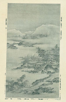 Photograph of Ancient Chinese Painting of Forest & Mountains. Freer Gallery of Art, Chinese...