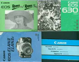 Canon instruction manuals for the Canon EOS 630 part 2, Canon EOS Elan II/Elan IIE, Canon EOS...