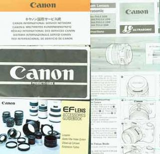 Canon instruction manual for EF Zoom lenses Ultrasonic, Canon Products Guide, Canon international...