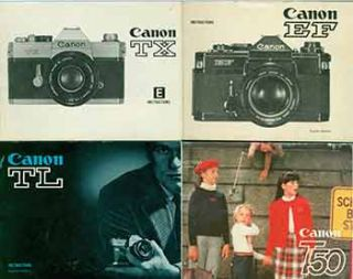 Canon instruction manual for Canon EF, Canon TL, Canon TX, and Canon T50. Canon Inc, Tokyo