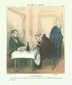 """Au Cafe D'Aguesseau (At the Cafe D'Aguesseau)"" from Les Gens de Justice (Lawyers and Judges)..."