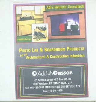 AGI Photolab & Boardroom Products Sourcebook. Adolph Gasser Photography, San Francisco.