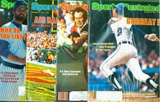 4 Sports Illustrated issues from 1984. Covers include John McEnroe, Rick Sutcliffe, Dwight...