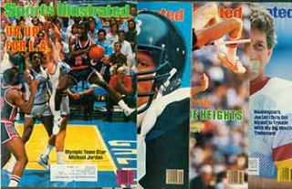 4 Sports Illustrated issues from 1984. Covers include Michael Jordan, Dwight Stones, Jack...