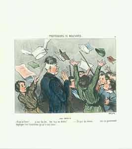 """Une Emeute (A Riot)"" from the Professeurs et Moutards (Teachers and Students) Series, 1845-1846...."