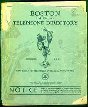 Boston and Vicinity Telephone Directory, New England Telephone and Telegraph Company, 1943. New...
